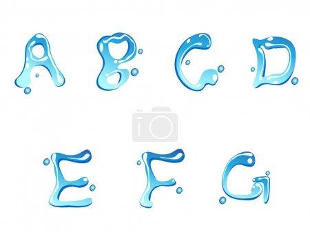 Water drop type font