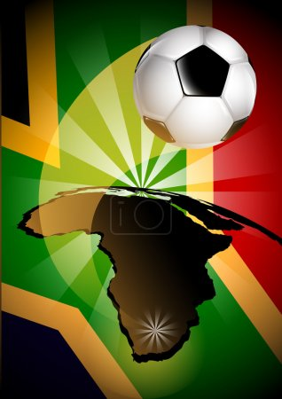 South Africa Flag & Soccer Ball Background