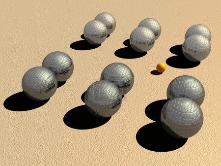 Petanque game balls