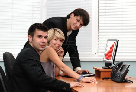 Group of businessmen in an office
