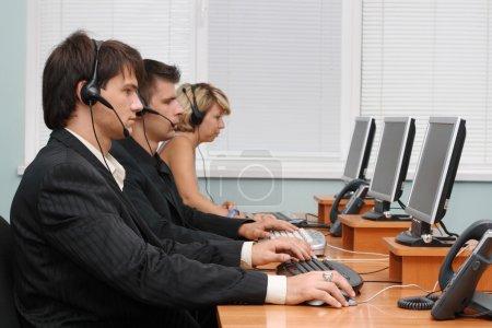 Customer service opetators at work