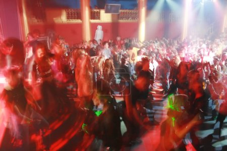 Photo for Night club picture made with long exposure, no recognizable faces - Royalty Free Image