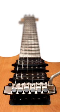 Photo for Electric guitar pickups and bridge - Royalty Free Image