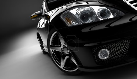 Photo for A modern and elegant black car illuminated - Royalty Free Image
