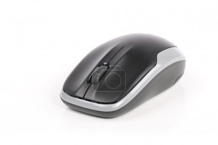 Photo for A black wireless computer mouse isolated on white - Royalty Free Image