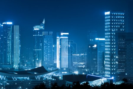 Photo for Modern building group at dusk in shenzhen,China - Royalty Free Image