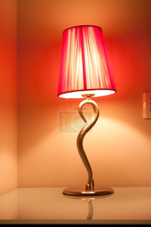 Photo for A warm table lamp at hotel - Royalty Free Image
