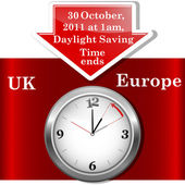 Daylight saving time ends sunday november 6 2011 at 2 am (Europe) Vector 10EPS