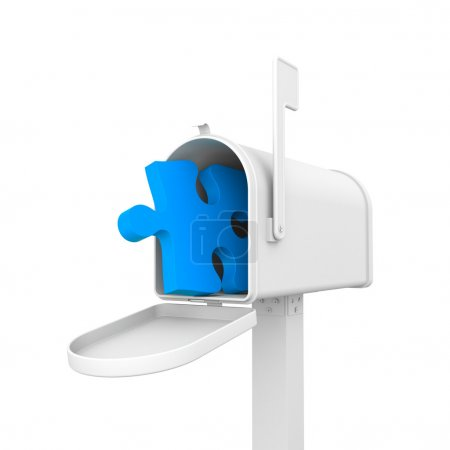 Mailbox with puzzle