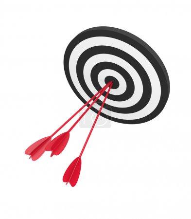Target with three arrow