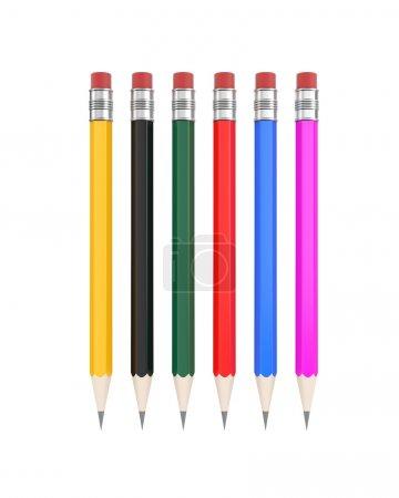 Pencils. Easy editable for you design