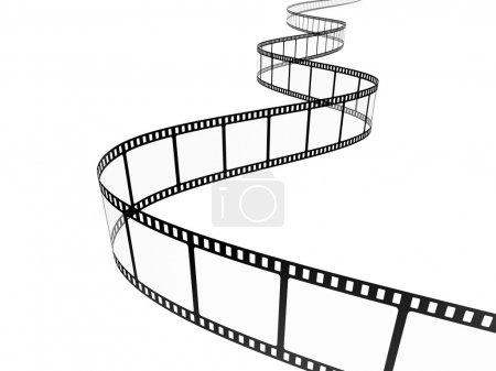Photo pour Bande de film, isolée sur blanc - image libre de droit