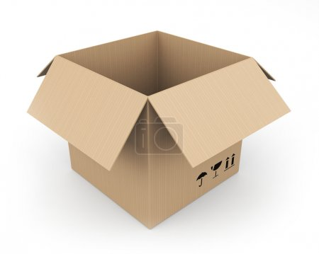 Cardboard box. Easy editable