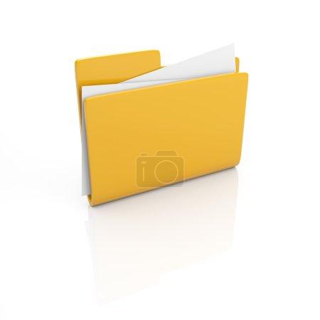 Photo for Folder isolated on white - Royalty Free Image