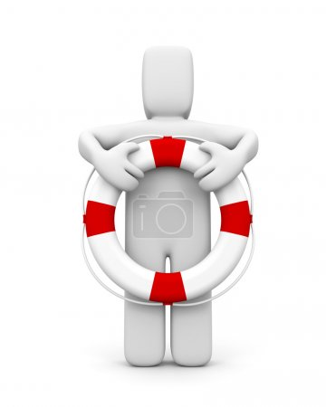 The person and life buoy
