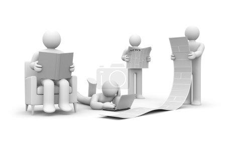 Photo pour Concept d'entreprise. isolé sur blanc - image libre de droit