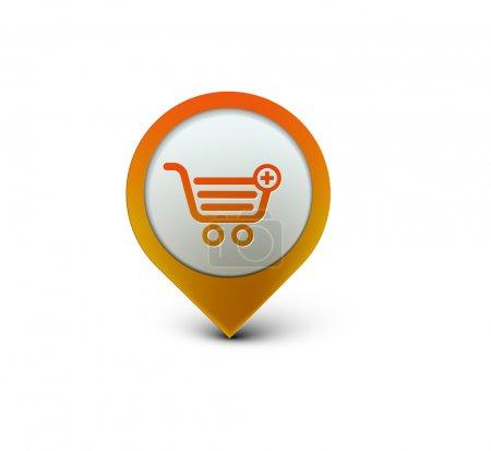 Photo pour Vecteur élément de conception web icon de shopping - image libre de droit