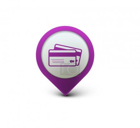 Illustration pour 3d vecteur cartes de crédit icône élément de conception . - image libre de droit