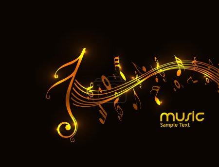 Illustration pour Notes de musique pour le design, illustration vectorielle - image libre de droit