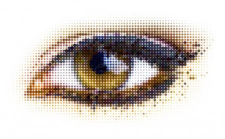 Illustration pour Oeil de points humains. illustration vectorielle . - image libre de droit
