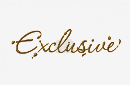 Chocolate exclusive text