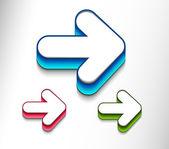 Arrow moving icon set Vector icon design