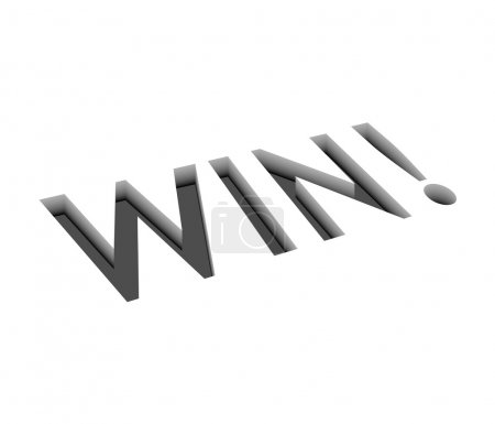 Vector win text design