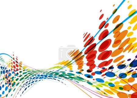 Illustration for Abstract colorful wave line with space of your text, vector illustration - Royalty Free Image