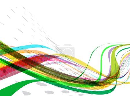 Illustration pour Ligne d'onde colorée abstraite avec espace de votre texte, illustration vectorielle - image libre de droit