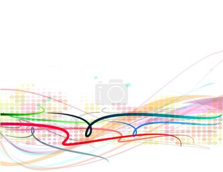 Illustration pour Fond abstrait motif floral, illustration vectorielle . - image libre de droit