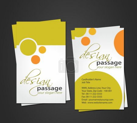 Illustration for Vector business card set, elements for design. - Royalty Free Image