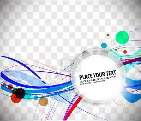 Illustration pour Conception d'une bannière colorée abstraite. illustration vectorielle. - image libre de droit