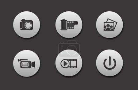 Set of Media Icons
