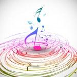 Music colorful music note theme - rainbow swirl wa...