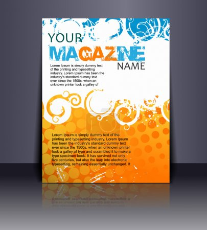 Illustration for Magazine layout design template. Vector Illustration - Royalty Free Image