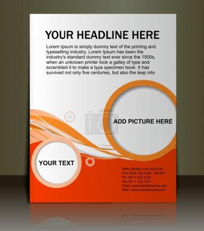 Illustration pour Vecteur modifiable Présentation de l'arrière-plan du contenu Flyer / Poster design . - image libre de droit