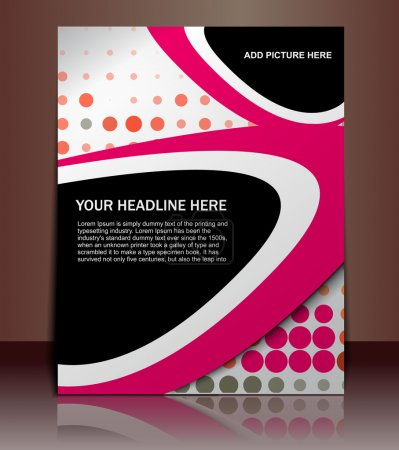 Illustration for Vector editable Presentation of Flyer/Poster design content background. - Royalty Free Image