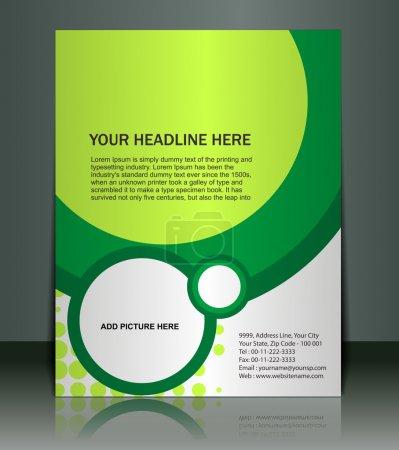 Illustration for Vector editable Presentation of Flyer/Poster design content background. - Royalty Free Image