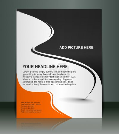 Photo for Vector editable Presentation of Flyer/Poster design content background. - Royalty Free Image