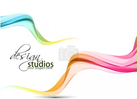 Illustration for Abstract colorful wave background. Vector. illustration - Royalty Free Image