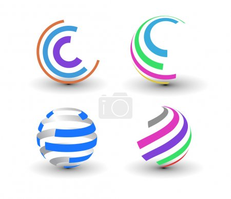 Illustration for Set of abstract colorful icons element. - Royalty Free Image