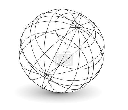 Wireframe globe i