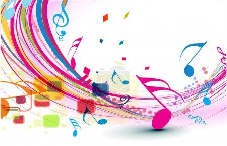 Illustration pour Notes de musique abstraites conception pour l'utilisation de fond de musique, illustration vectorielle - image libre de droit