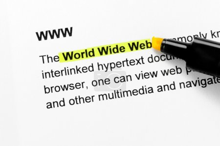 World Wide Web text highlighted in yellow