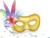 Carnival Venetian Mask isolated; vector