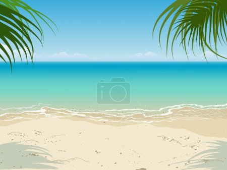 Photo for Tranquil seascape scene. Nobody. Empty beach. Vector - Royalty Free Image