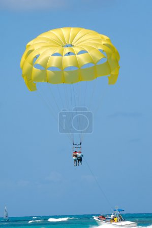 are parasailing