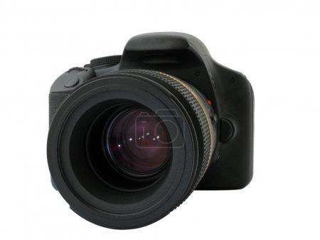 Photo pour Appareil photo reflex numérique isolé sur blanc - image libre de droit