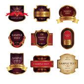 Set from nine vintage labels