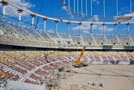 Photo pour Construction d'un stade - chantier de construction - image libre de droit